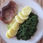 Vepřové maso se špenátem a bramnorovým knedlíkem