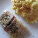 Pangas s bramborovo-mrkvovou kaší