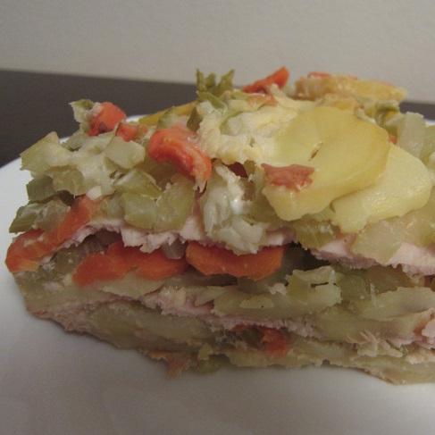 zapečené brambory s řapíkatým celerem