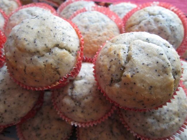 Makové muffiny s kokosem