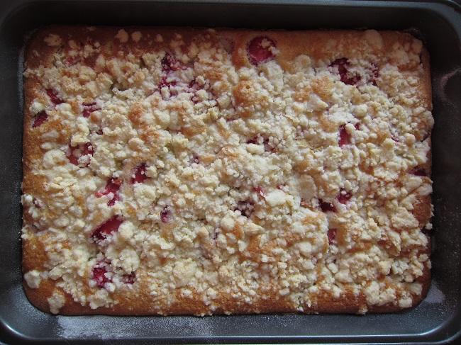 Jahodovo-rebarborový koláč bez lepku