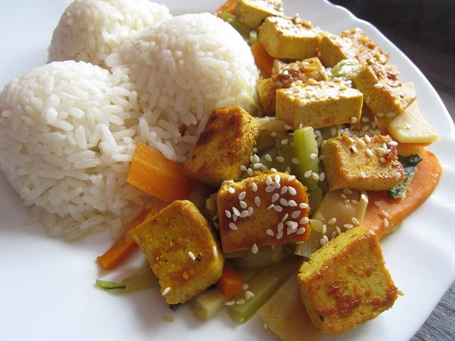 Marinované tofu se zeleninou