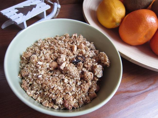 Zimní granola s ořechy