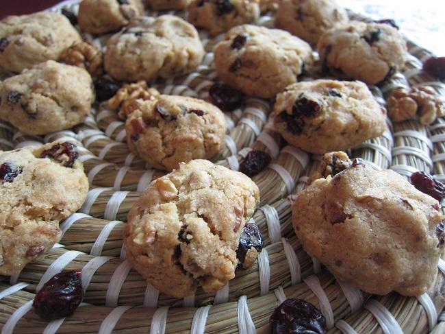 Bezlepkové sušenky s brusinkami a ořechy